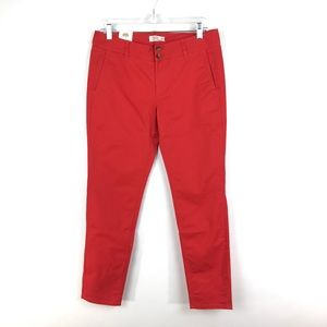 Mountain Khakis Sadie Skinny Chino Pant Red NEW